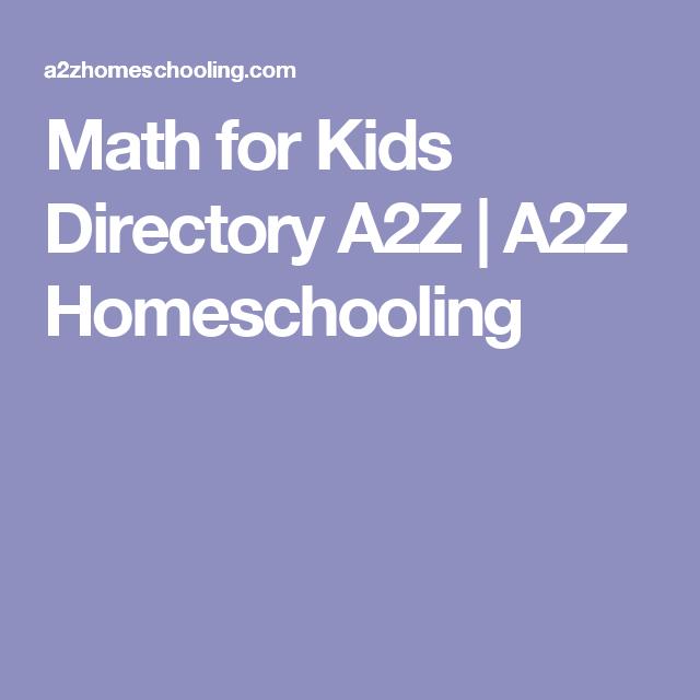 Math for Kids Directory A2Z | A2Z Homeschooling