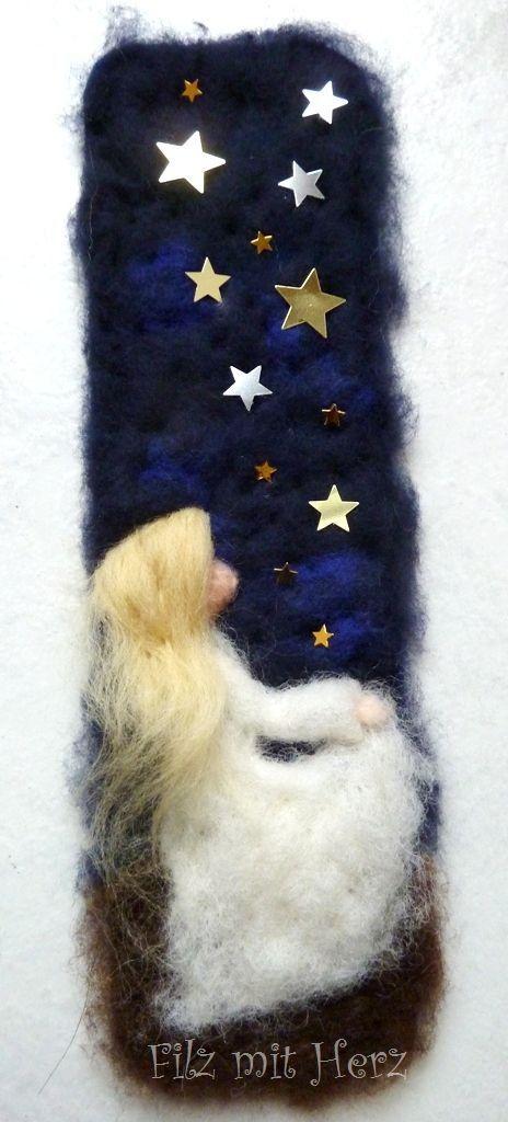 Filz mit Herz - Wollbilder und Dekoration aus Filz - kleine Wollbilder zum Hinhängen aus Märchenwolle #filzen