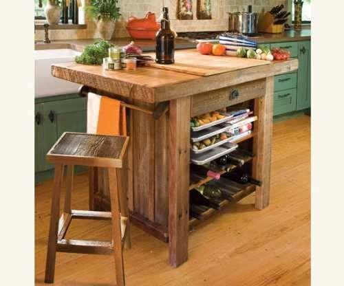 Mesas rusticas bajo mesada islas cocina barbacoas null - Mesas de cocina madera rustica ...