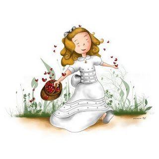 Dibujo coloreado nina de comunion