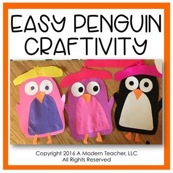 Use this easy penguin template to create some colorful, creative - penguin template