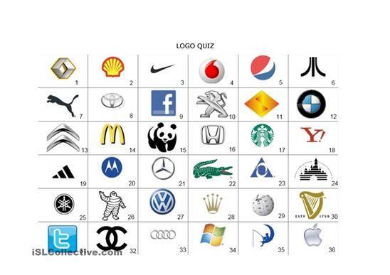 Company Logos Esl Worksheets Guess The Logo Logo Quiz Games Logo Quiz
