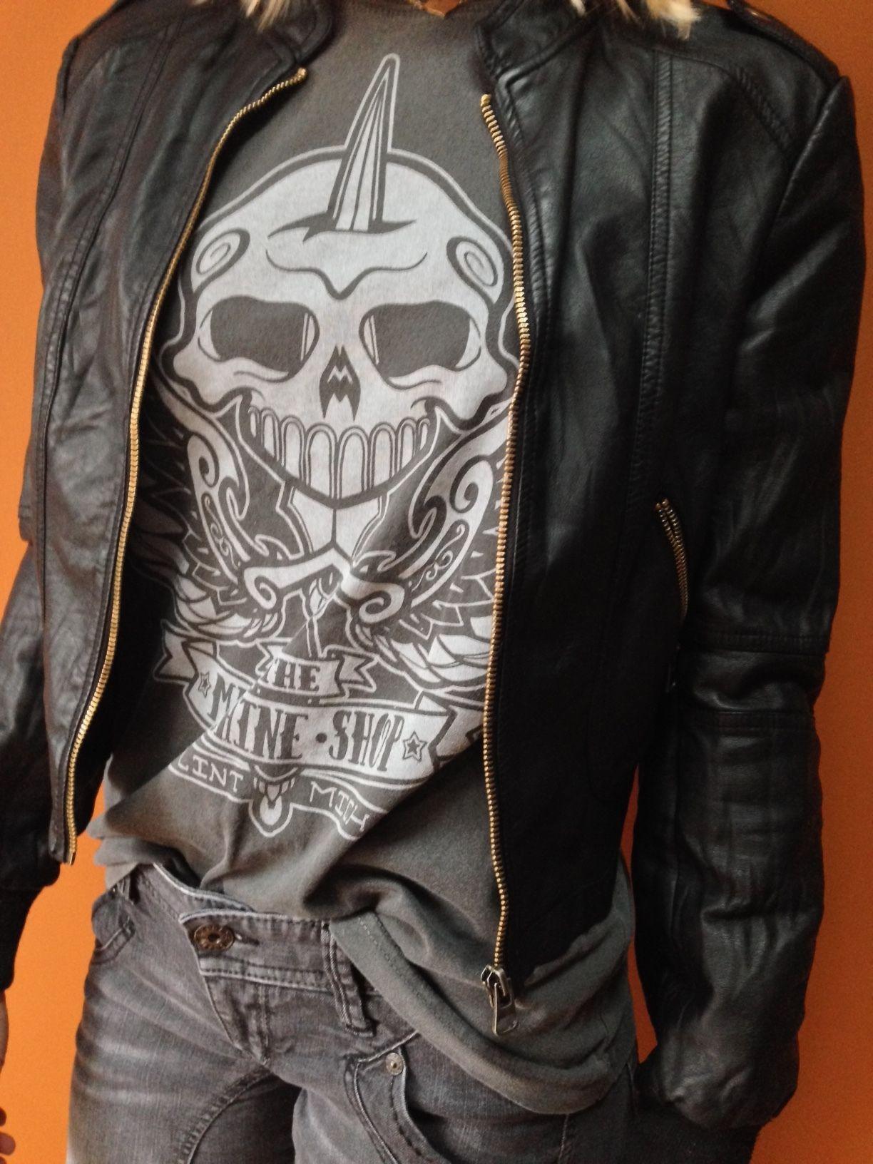 Dagger boyfriend t rocknroll fashion skull tshirt tattoo