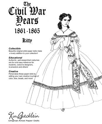 Victorian Themed Paper Dolls