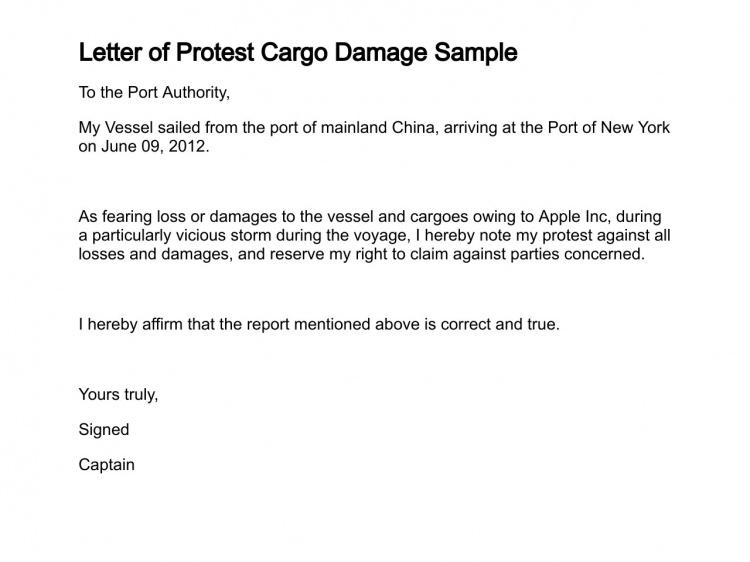 cargo damage claim letter sample property release form