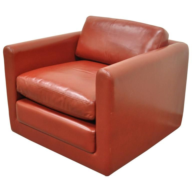 Astounding Red Leather Cube Club Or Lounge Chair After Harvey Probber Creativecarmelina Interior Chair Design Creativecarmelinacom