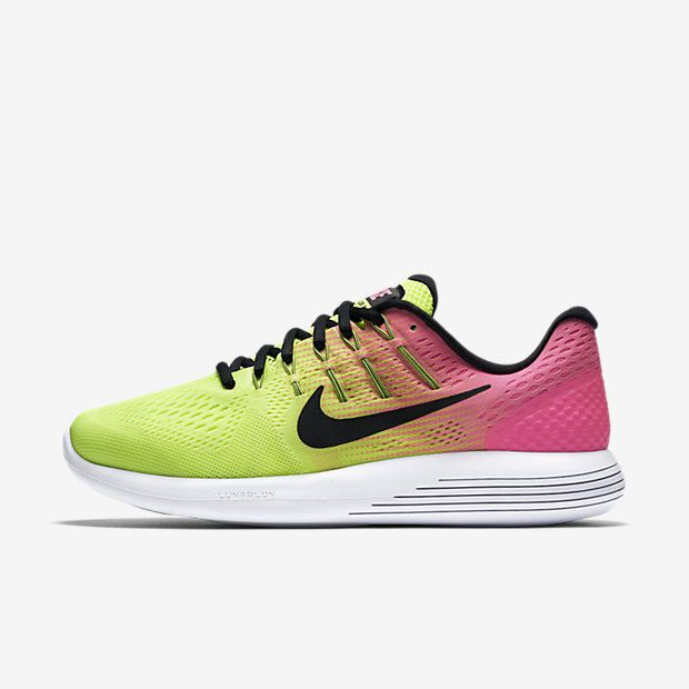 Nike Lunarglide 8 OC Unlimited Mens Running Shoes Volt Pink Black 844632  999 #Nike #