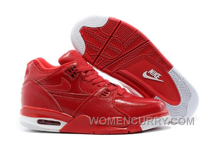 Nike Air Flight  89 Red Leather Mens Basketball Shoes Online Emc2Q6b ... 7fbde4340