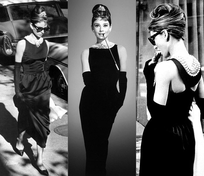 the little black dress, audrey hepburn, breakfast at tiffany's ...