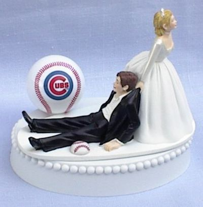 Wedding Cake Topper Chicago Cubs Ball Themed