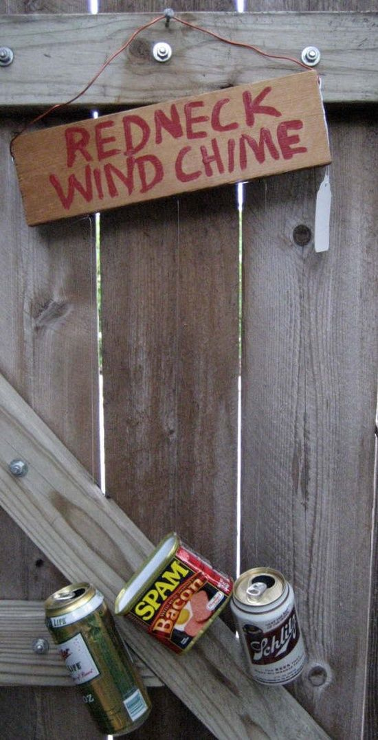 Redneck wind chimes -- love the Spam can. | For a rainy day | Pinterest
