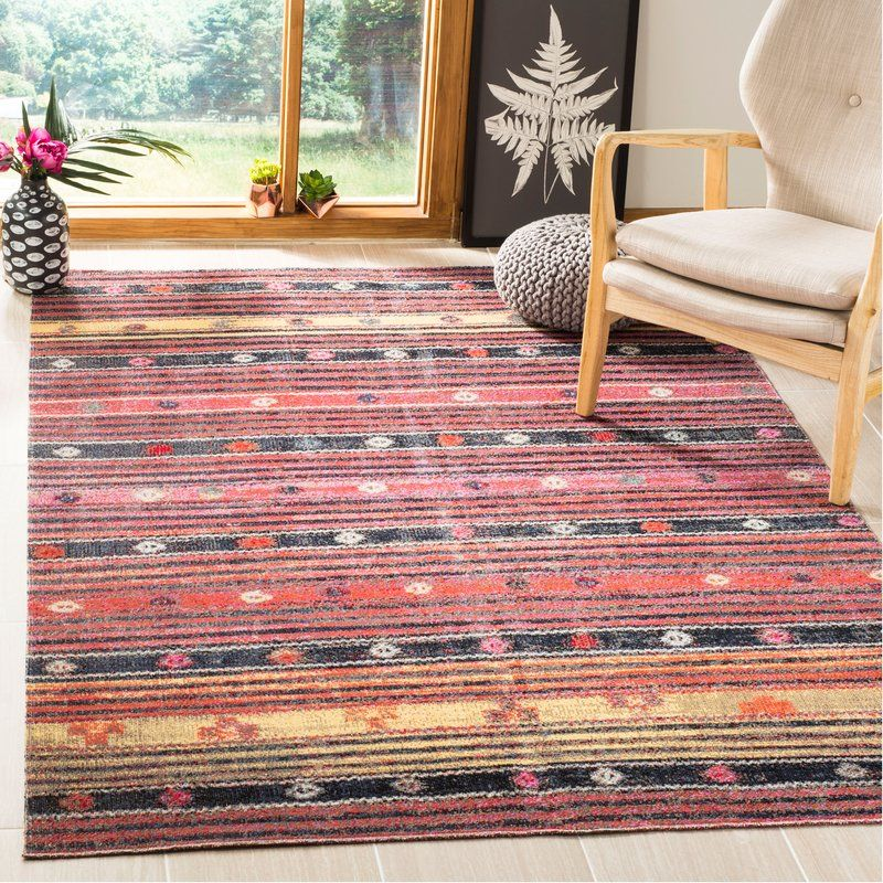 Griffeth Southwestern Pink Black Area Rug Area Rugs Rugs