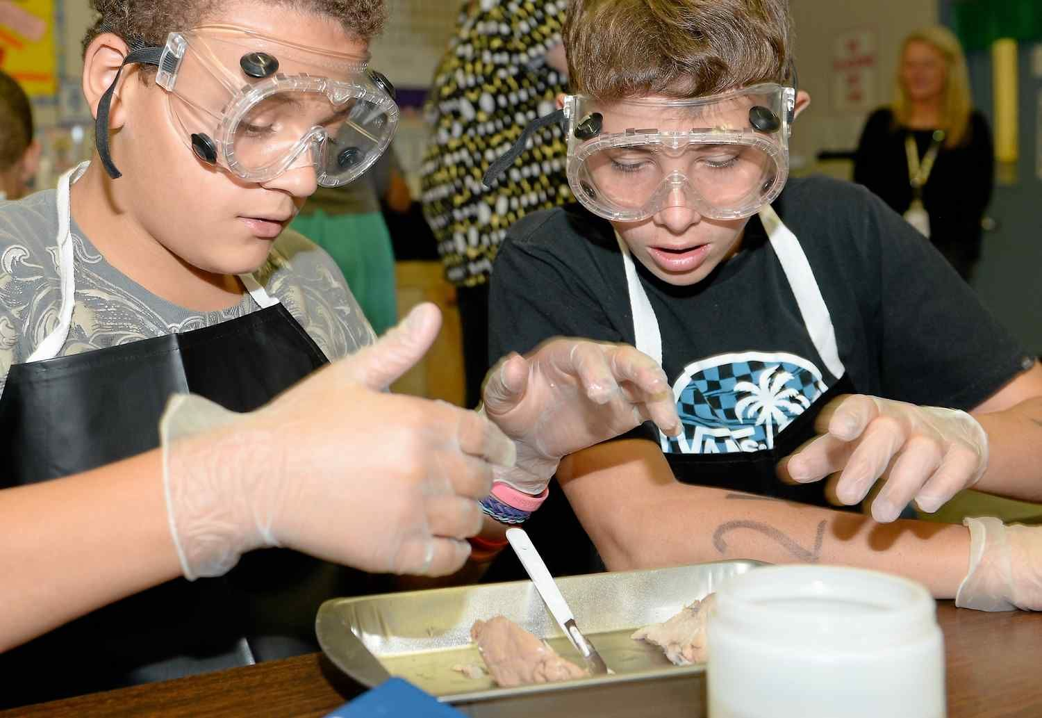 """A California junior-high school this year launched a """"Medical Detectives"""" class to introduce students to forensic science. The popular class allows students to participate in exercises, such as dissections and collection of DNA to simulate the work done by doctors and investigators"""
