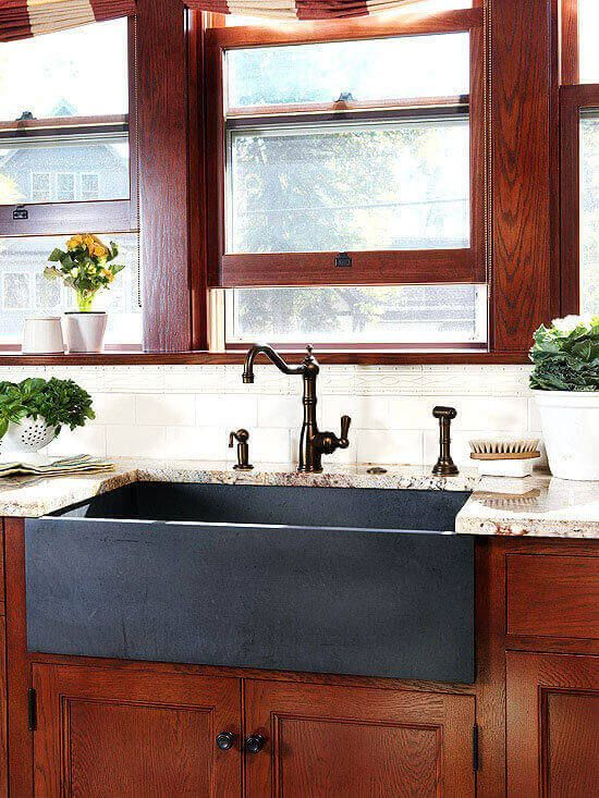 45 Kitchen Sink Ideas For Your Dream House With Images Farmhouse Sink Kitchen Apron Sink Kitchen Kitchen Sink Design