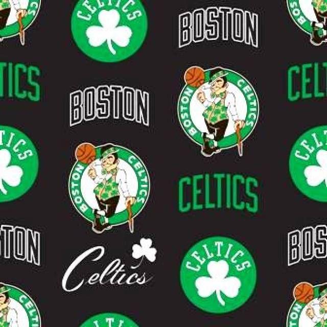 Fabrics By The Yard Boston Celtics Boston Celtics Wallpaper Fleece Fabric