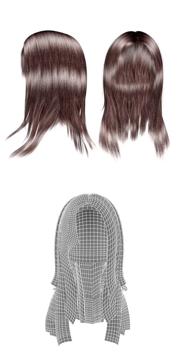 3d Models Female Hair 01 3docean Stellas Christening Ideas
