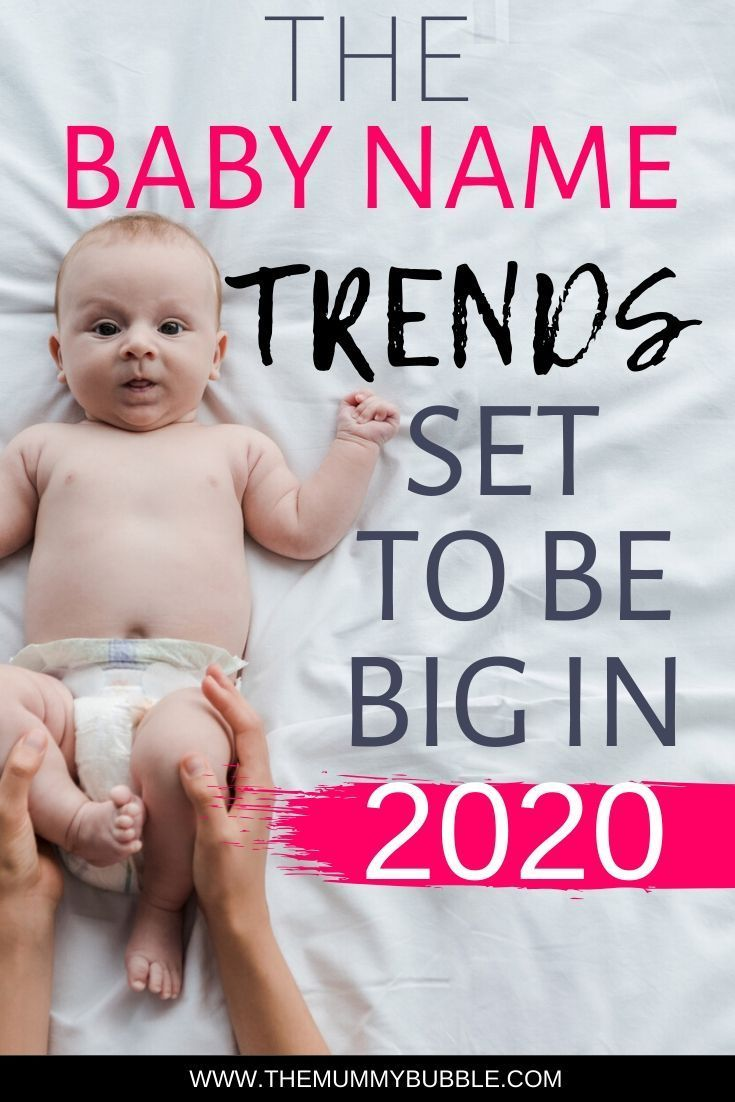 Baby name trends for 2020 - The Mummy Bubble
