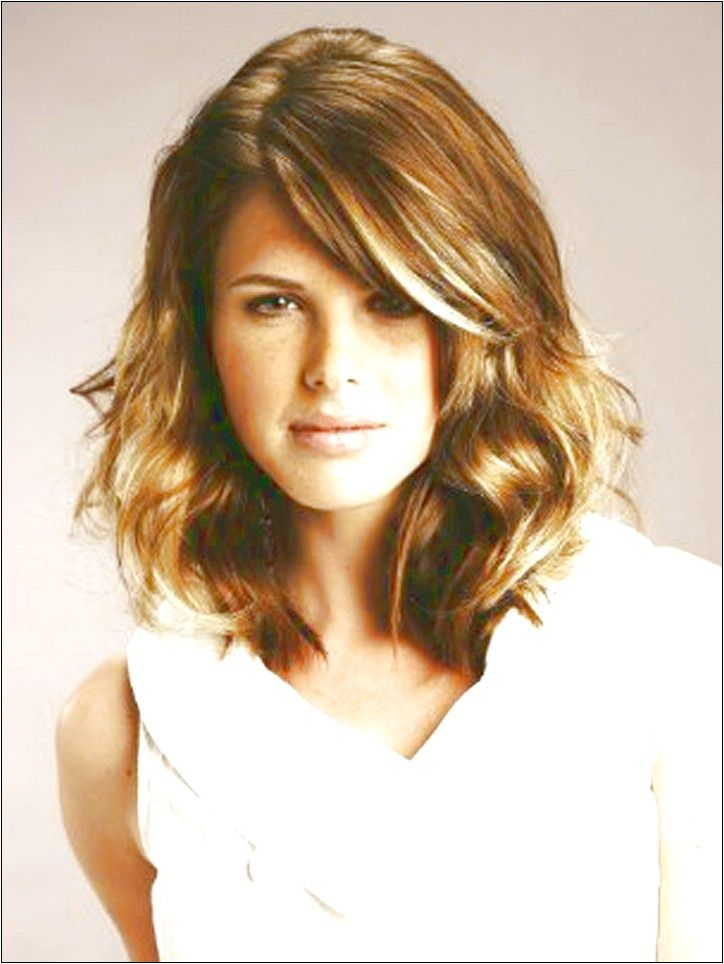 Hairstyles For Naturally Wavy Hair : Medium haircuts for wavy hair and round face curly hairstyles