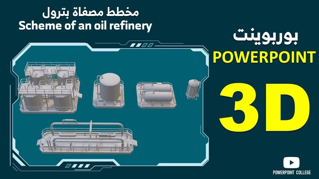 كيفية إنشاء عرض بوربوينت ثلاثي الأبعاد 3d Powerpoint I In 2020 Oil Refinery Refinery Powerpoint