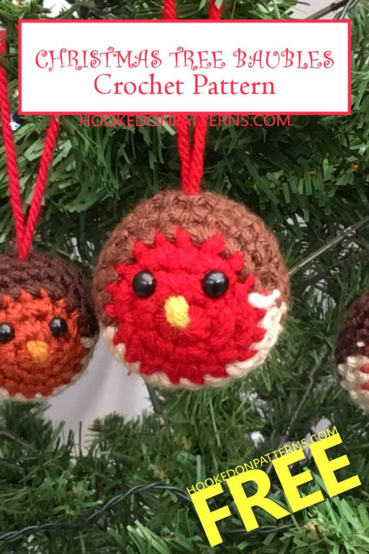Free Crochet Pattern For Christmas Tree Baubles Crochet Christmas