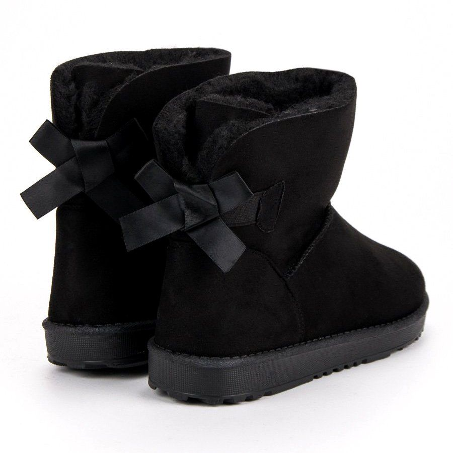 Queentina Czarne Mukluki Z Kokardka Ugg Boots Boots Uggs