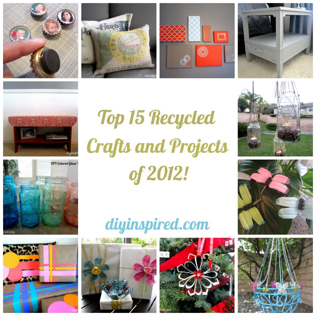 Top 15 recycled crafts and projects of 2012 furniture for Cool recycling projects