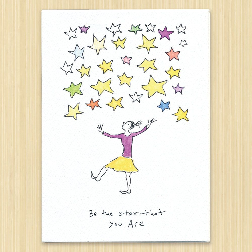 Star That You Are Greeting Card Birthday Card Graduation Card