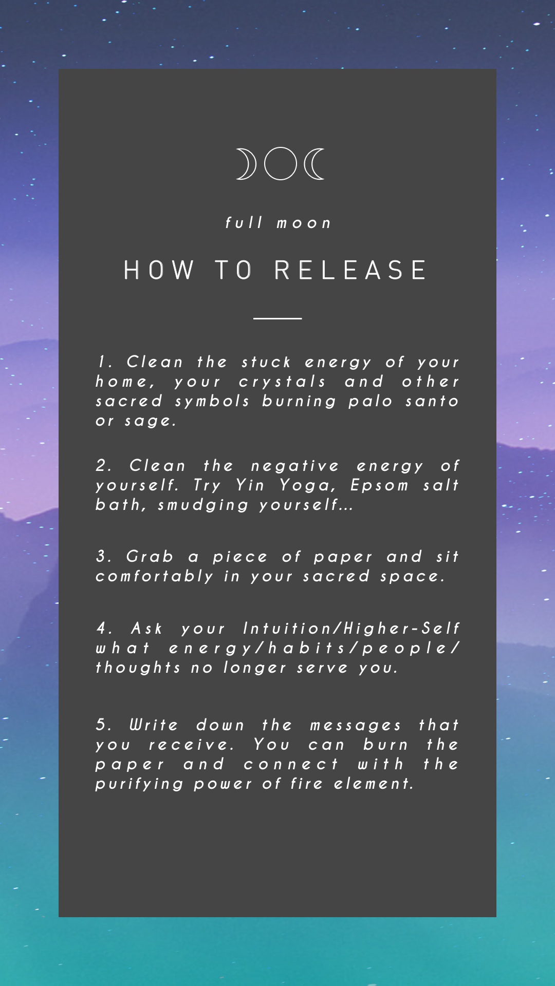 Full Moon Ritual How To Release What No Longer Serves You