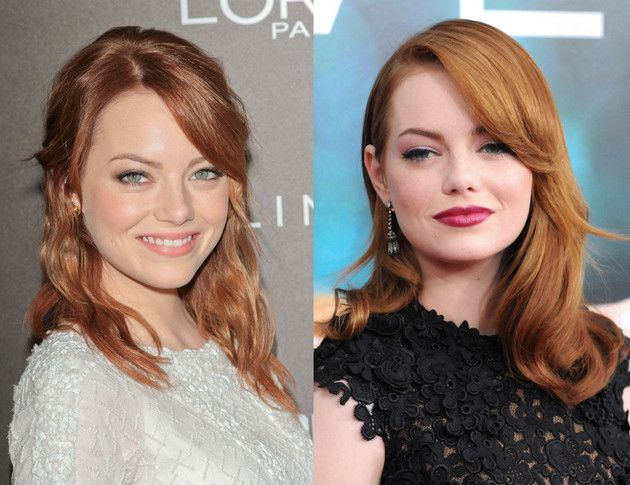 Middle Hairstyles Middle Hair Famous Redheads Actresses Stylish Hair