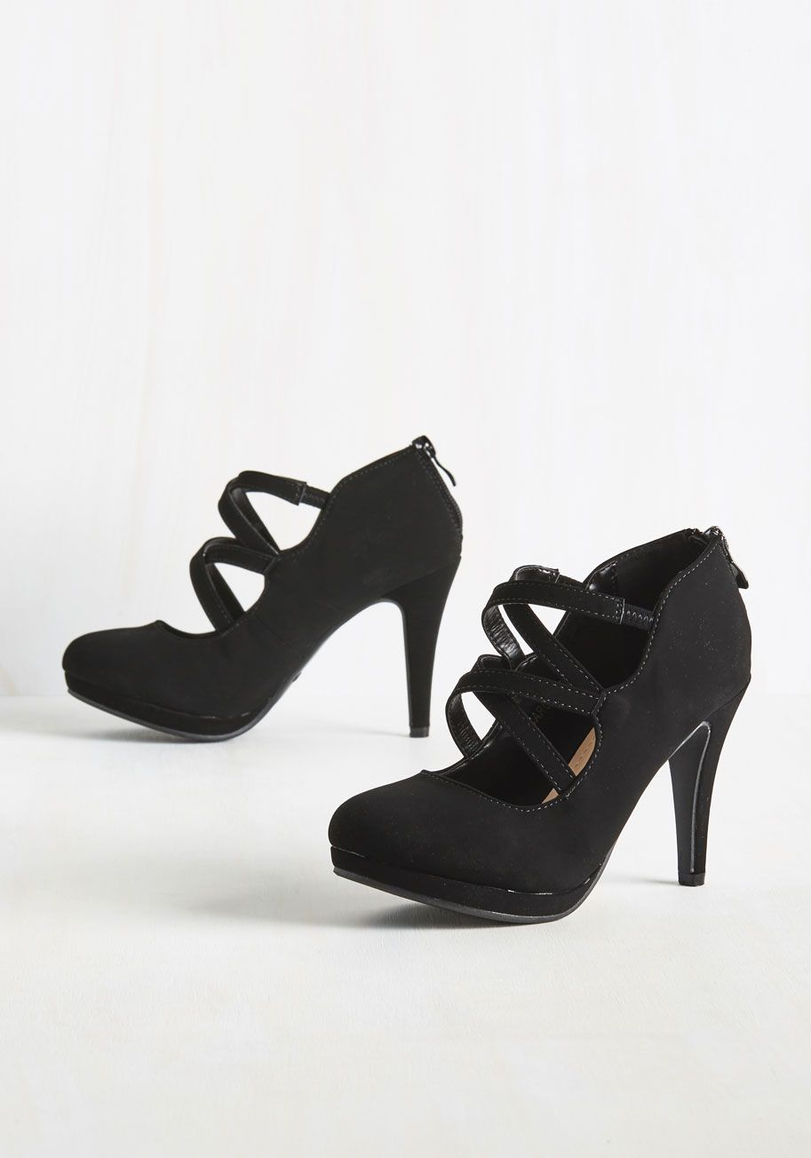 2cff0b7f701165 Showcase your marvelous moves as you twirl in these black heels.  black   modcloth