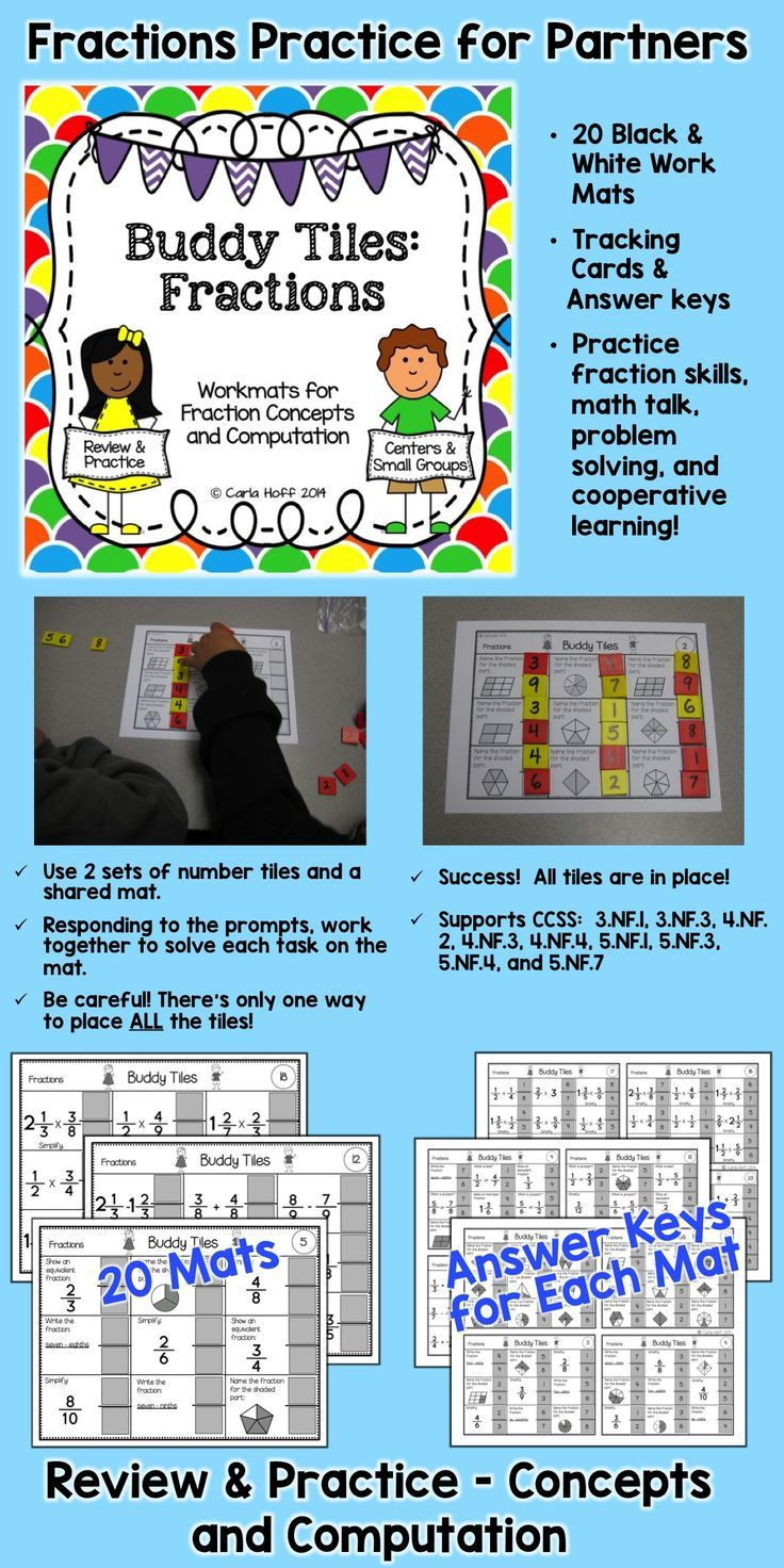 Fractions Games for Partners - Skills & Concepts - Review & Test ...