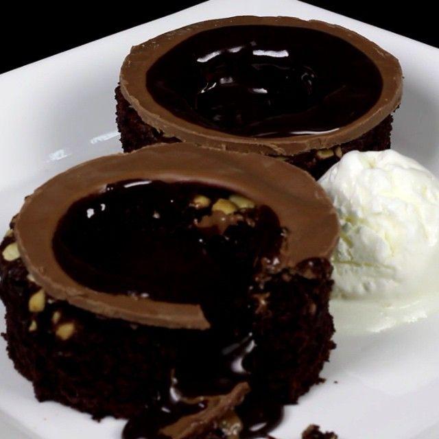 وجبات ١٥ ثانية 15s Meals On Instagram حلى للفخمين براونيز شوكلت ايسكريم لذييييذ جدا الجزء الثاني لكيكة Chocolate World Food Meals