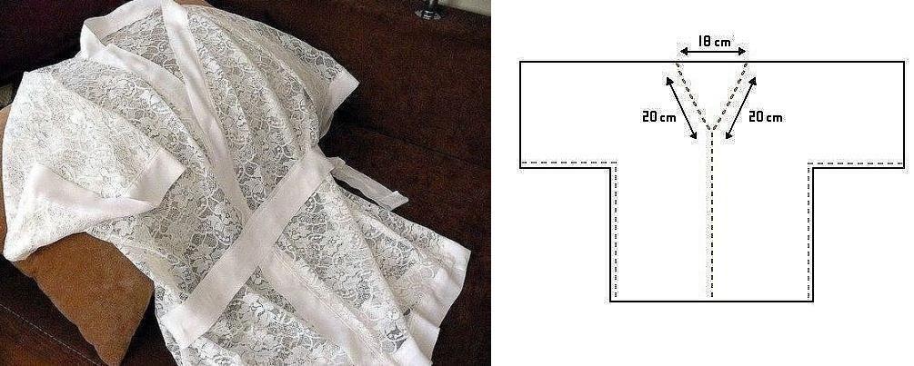 Bata kimono con patrones totalmente sencillos de trazar ¡Ideal para ...