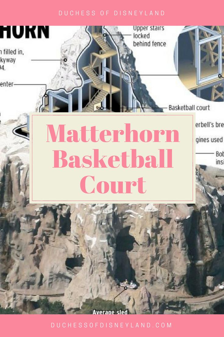 Matterhorn Basketball Court Addicted To Disney Disneyland