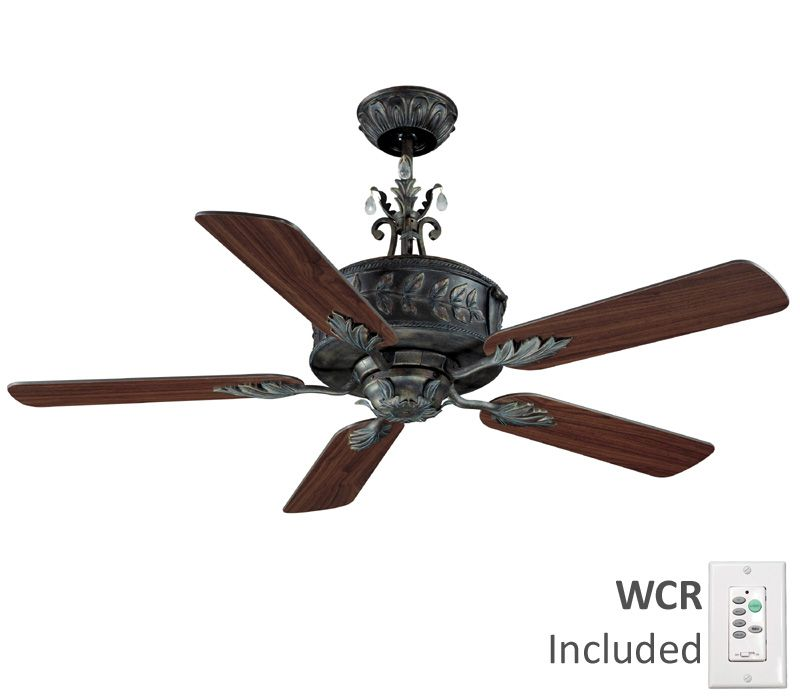 Craftmade Ant54av5wcr Antoinette Antique Verde 54 Quot High Airflow Ceiling Fan With Wall Control
