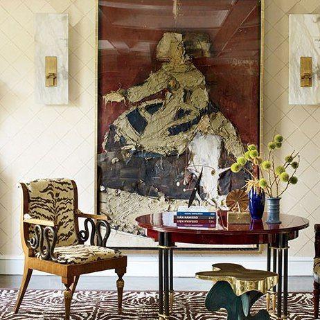 Living Room : Tour Interior Designer Richard Mishaan's Family Apartment in Manhattan : Architectural Digest#interiordesign