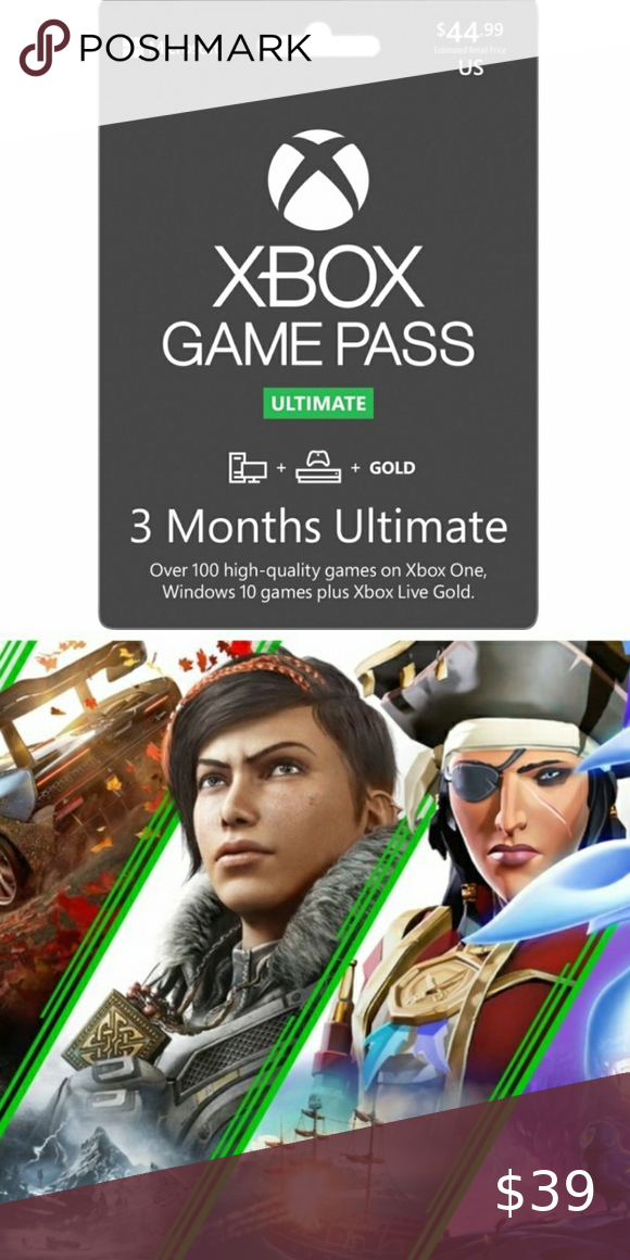 Microsoft Xbox Game Pass Ultimate 3 Month Member NWT in
