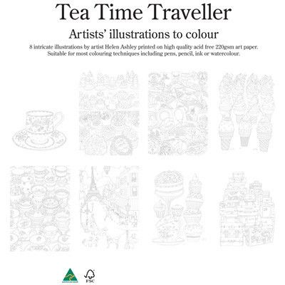 Tea time traveller colouring in pack the ojays unique gifts tea time traveller colouring in pack colouring ineaster giftunique negle Image collections