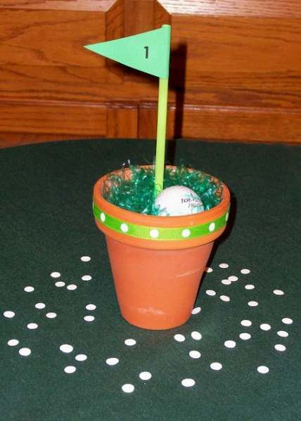 Sport party decorations centerpieces golf ball 47 ideas #sport #party