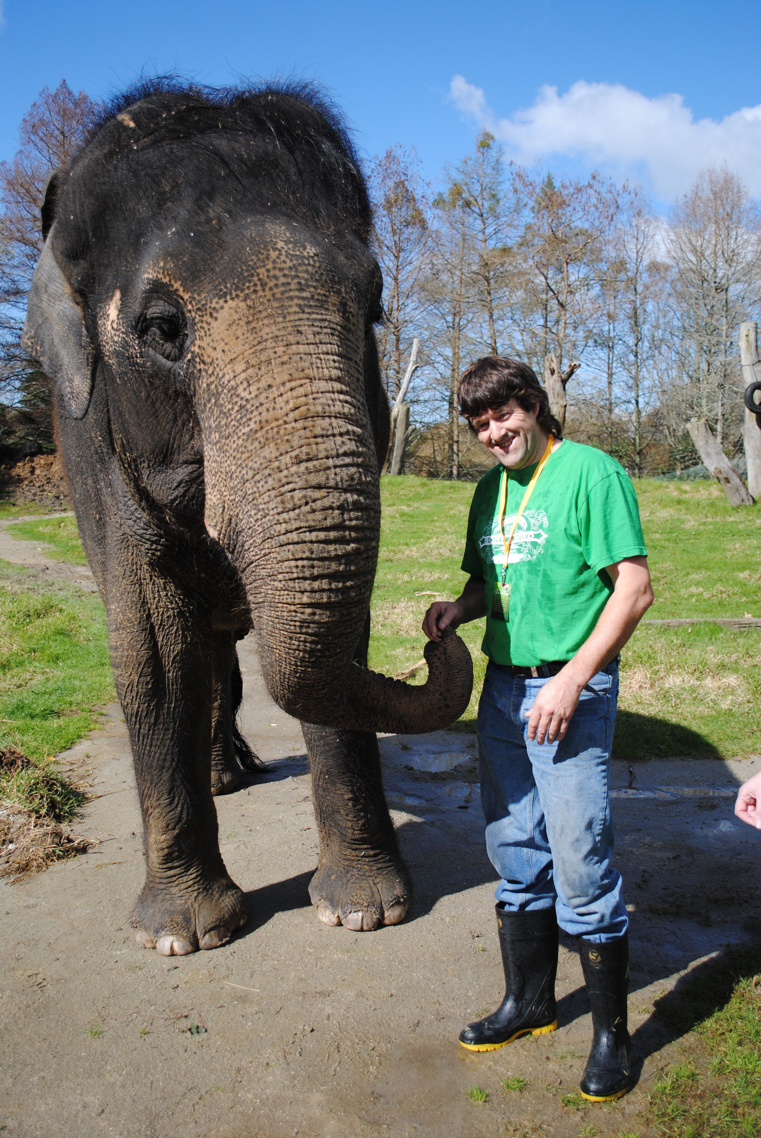 I got to spend two hours with Burma at Auckland Zoo, beautiful elephant and awesome experience...