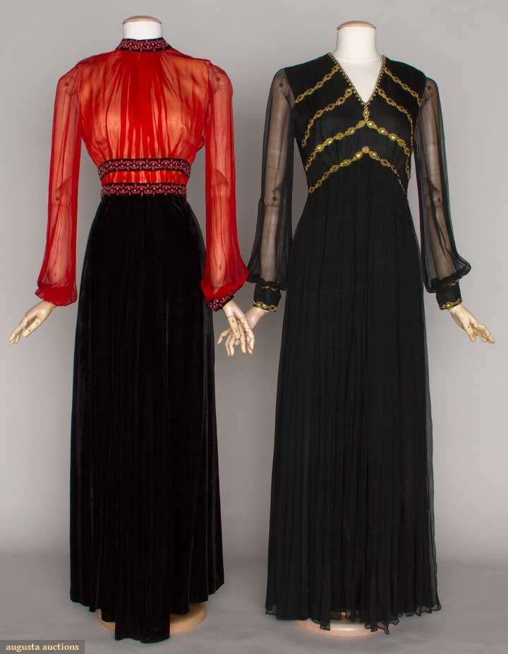 TWO BLACK EVENING GOWNS, 1970s   Vintage Fashion I\'d Wear ...