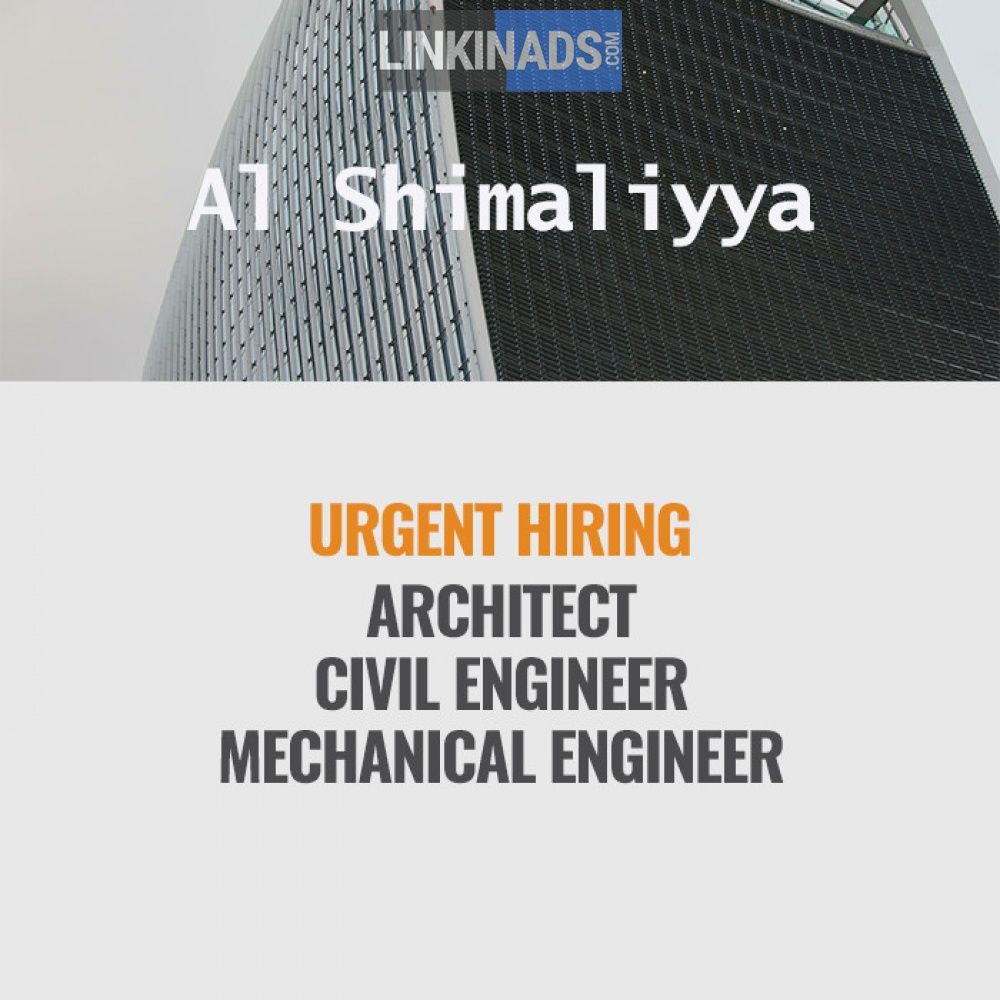 HIRING FOR - ARCHITECT,CIVIL ENGINEER, & MECHANICAL ENGINEER ...