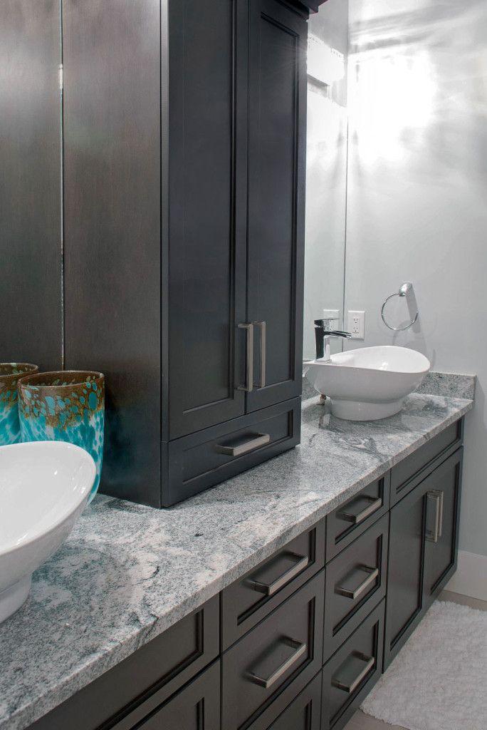 Dark Maple Ensuite Vanity   Bathroom Vanity U2013 Bathroom Storage Tower    Design By Superior Cabinets  Hastings