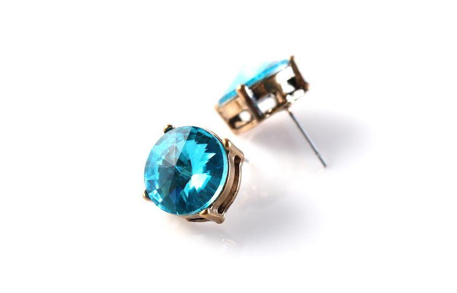 Glass Crystal Stud Earrings