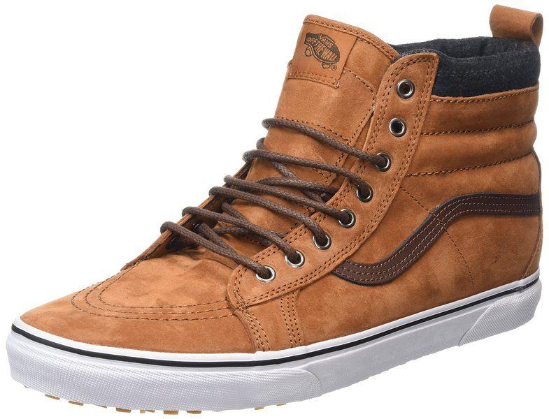 843c014a034 Vans Unisex Sk8-Hi MTE Glazed Ginger Plaid Skate Shoe 9 Men US   10.5 Women  US