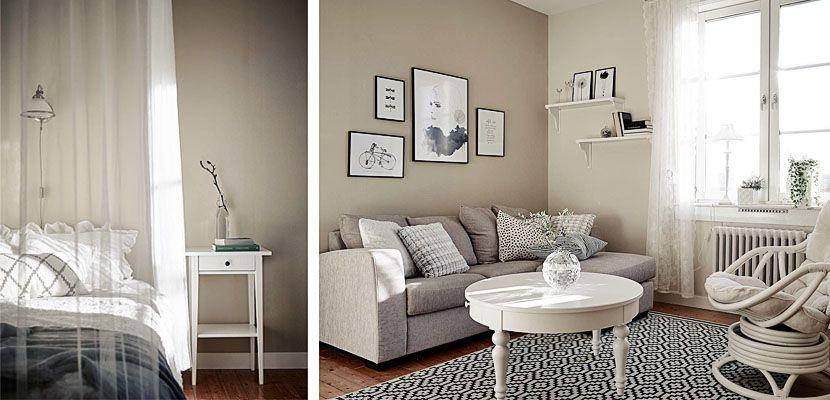 Un piso pequeño decorado en blanco y beige - http://www.decoora.com/un-piso-pequeno-decorado-en-blanco-y-beige/