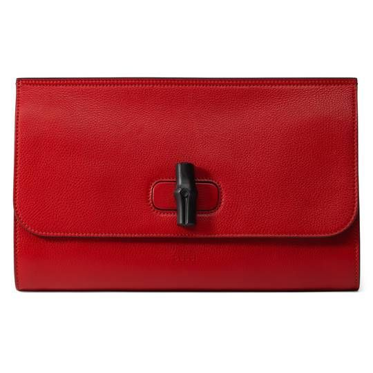 Gucci Bamboo Daily leather clutch