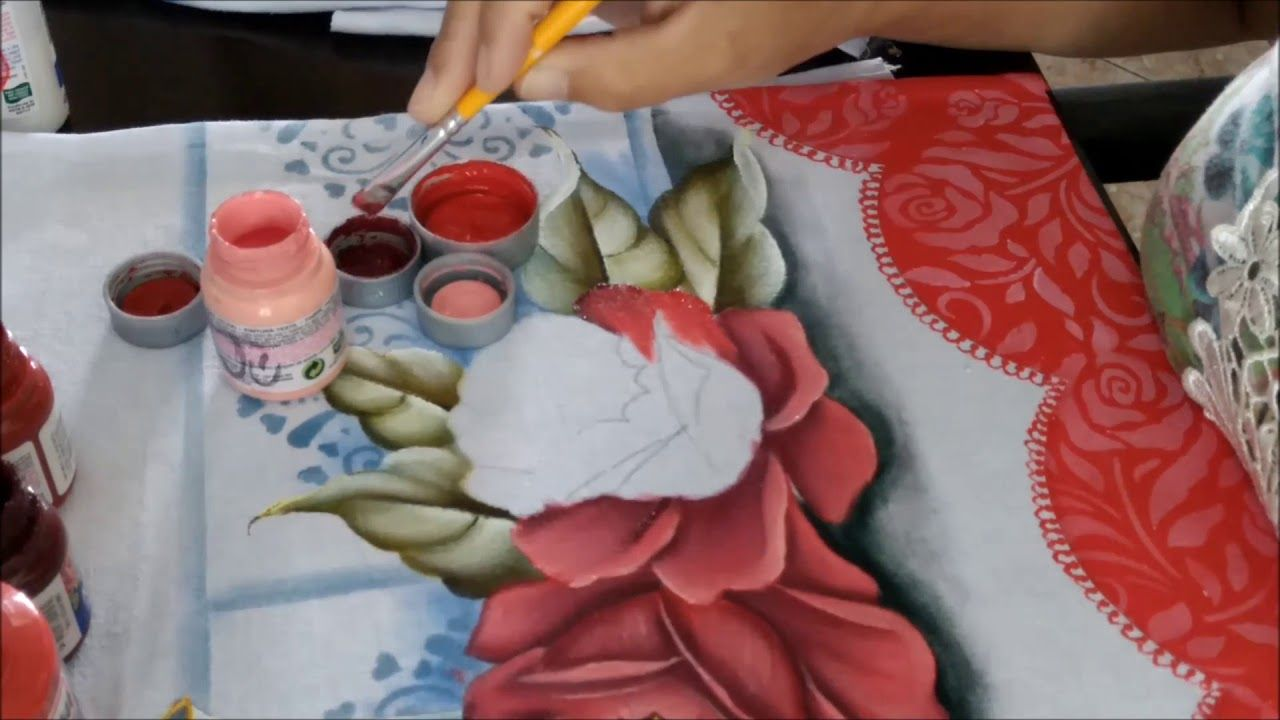 Dicas De Como Pintar Rosas Vermelhas No Pano De Copa Painting