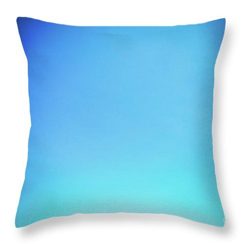 Turquoise Blue Sky Throw Pillow