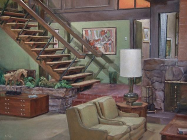The Brady Bunch Living Room I Loved That Show And Wanted To Live In A House Like That The Brady Bunch Mid Century Modern Home Tv